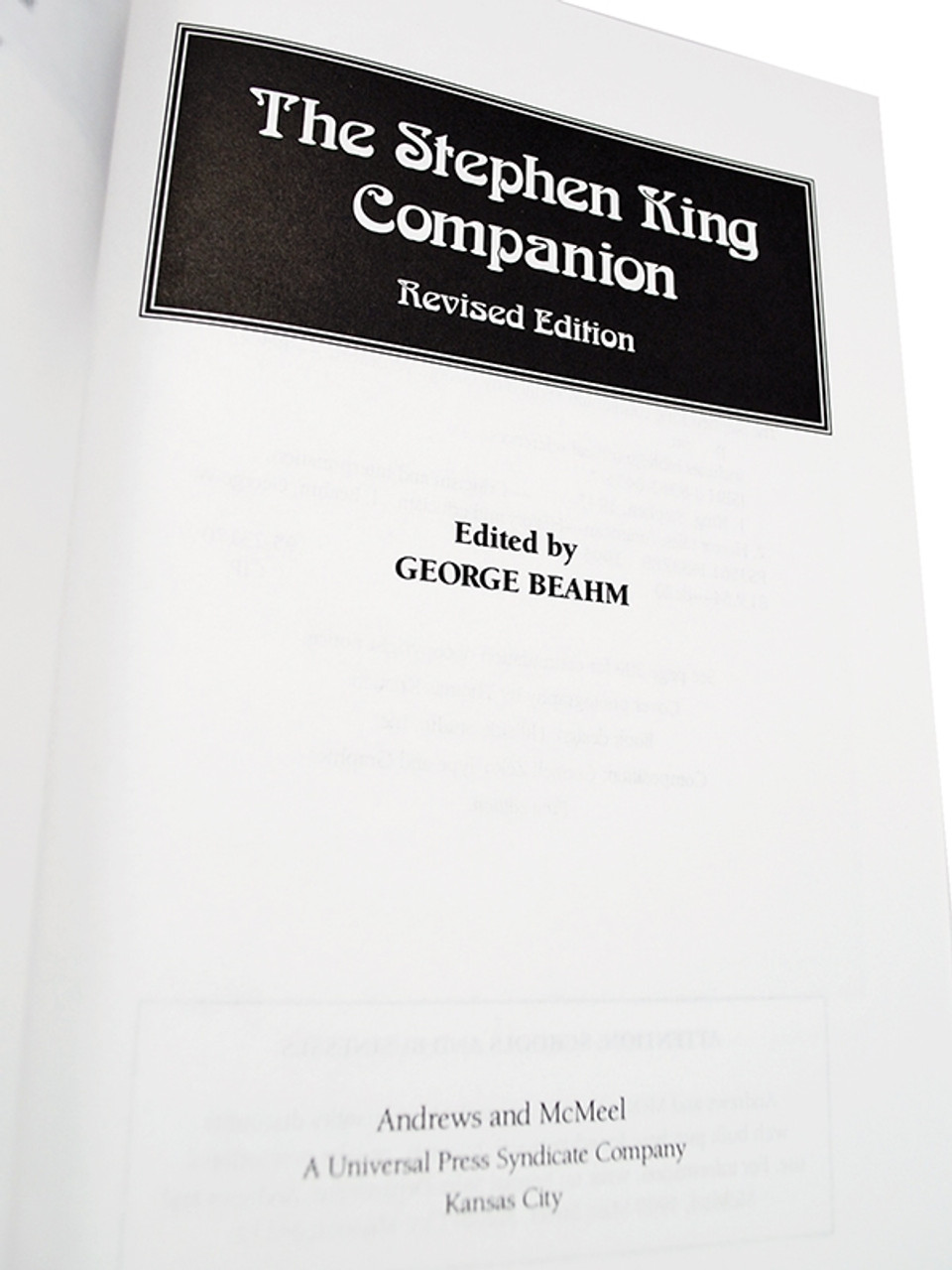 """Amereon Ltd, George Beahm """"Stephen King Companion"""" Signed First Edition #99 of only 100 [Very Fine]"""