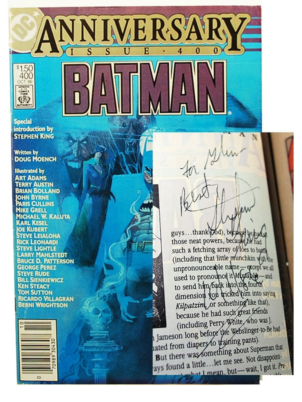 """Batman"" Anniversary Issue #400,  Stephen King, Signed First Edition"