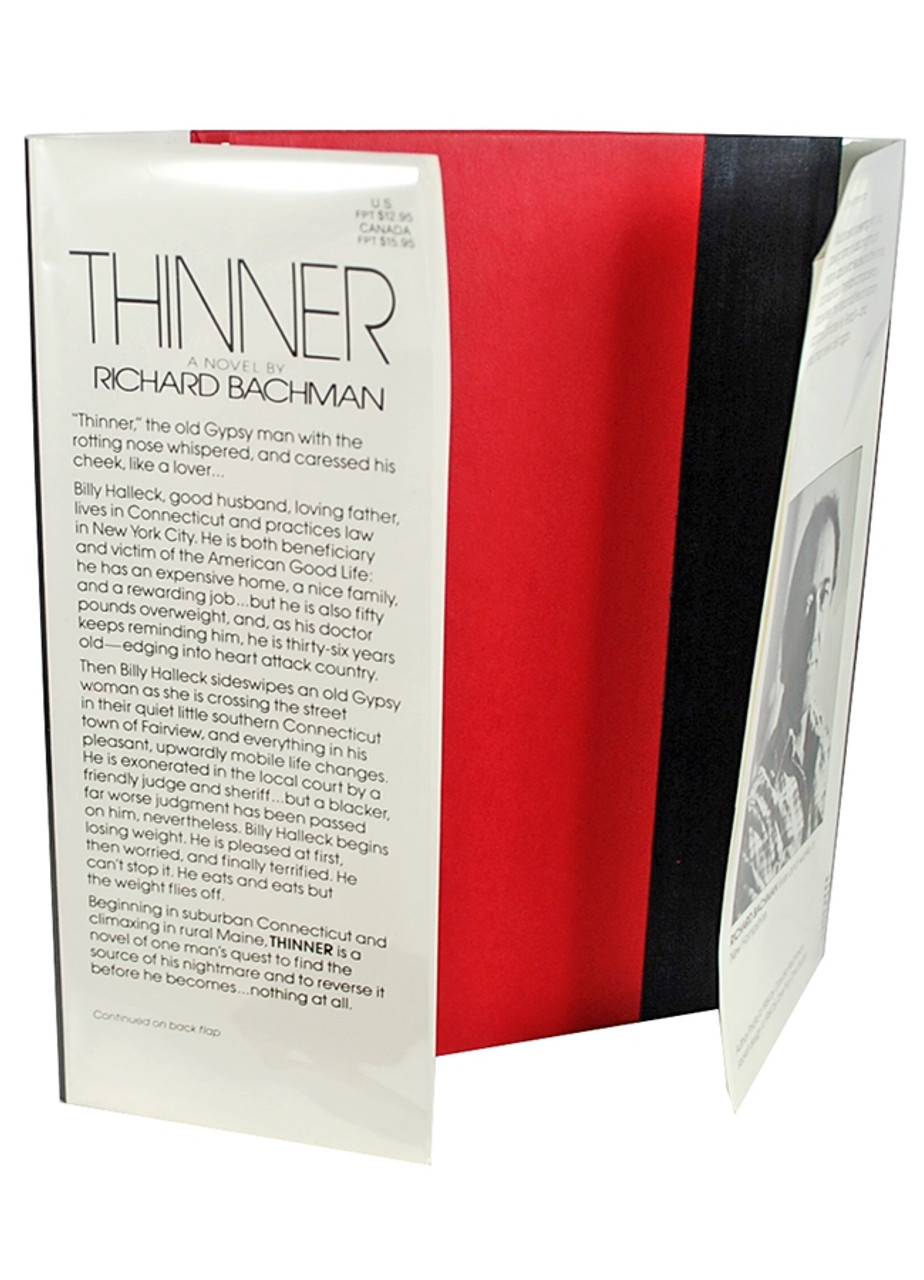 """Stephen King """"Thinner"""" First Edition, First Printing (writing as Richard Bachman)"""