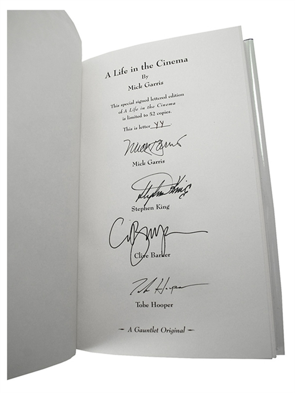 Stephen King Life in Cinema Signed Lettered Limited