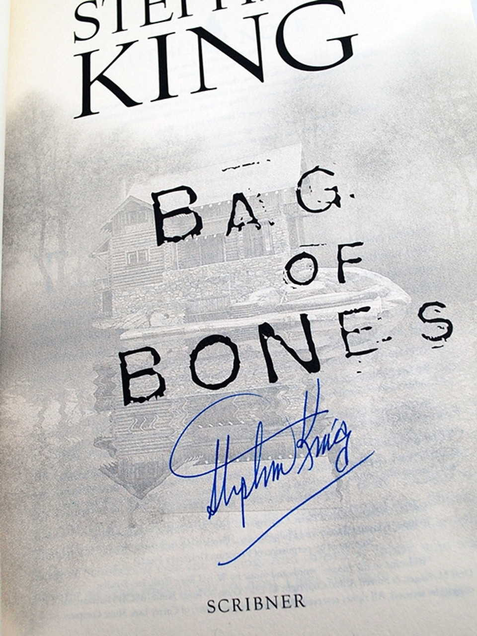 "Stephen King ""Bag of Bones"" Signed First Edition, First Printing dj/HC [Fine/Fine]"
