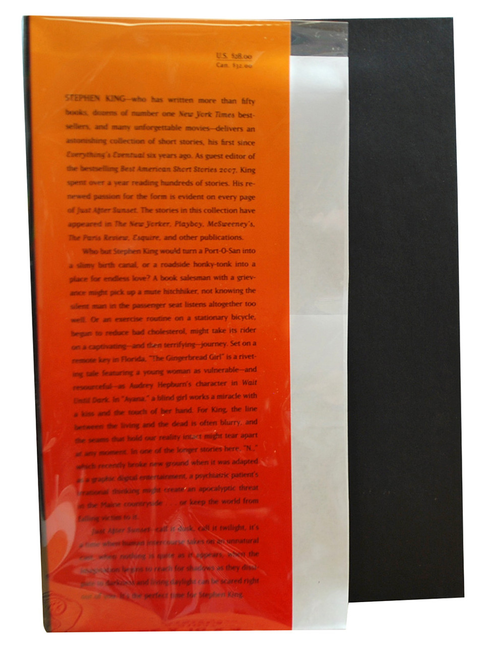 """Stephen King """"Just After Sunset"""" Signed First Edition, Book Signing Ticket + Flyer , Slipcased w/COA  [Very Fine/Very Fine]"""