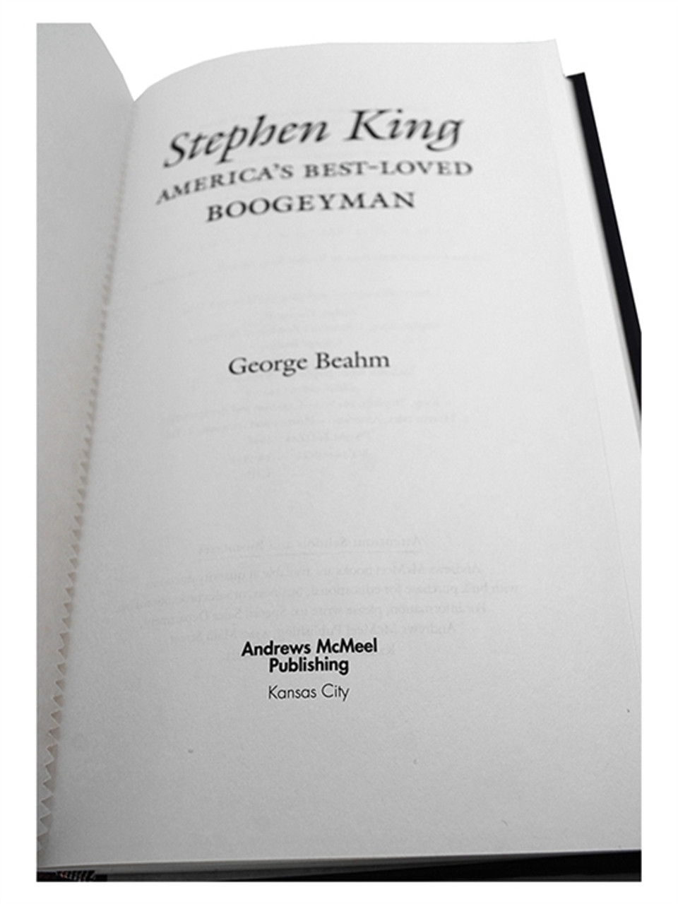 """""""Stephen King: America's Best Loved Boogeyman"""" George Beahm and Stephen J. Spignesi, Signed Limited Lettered """"W"""""""
