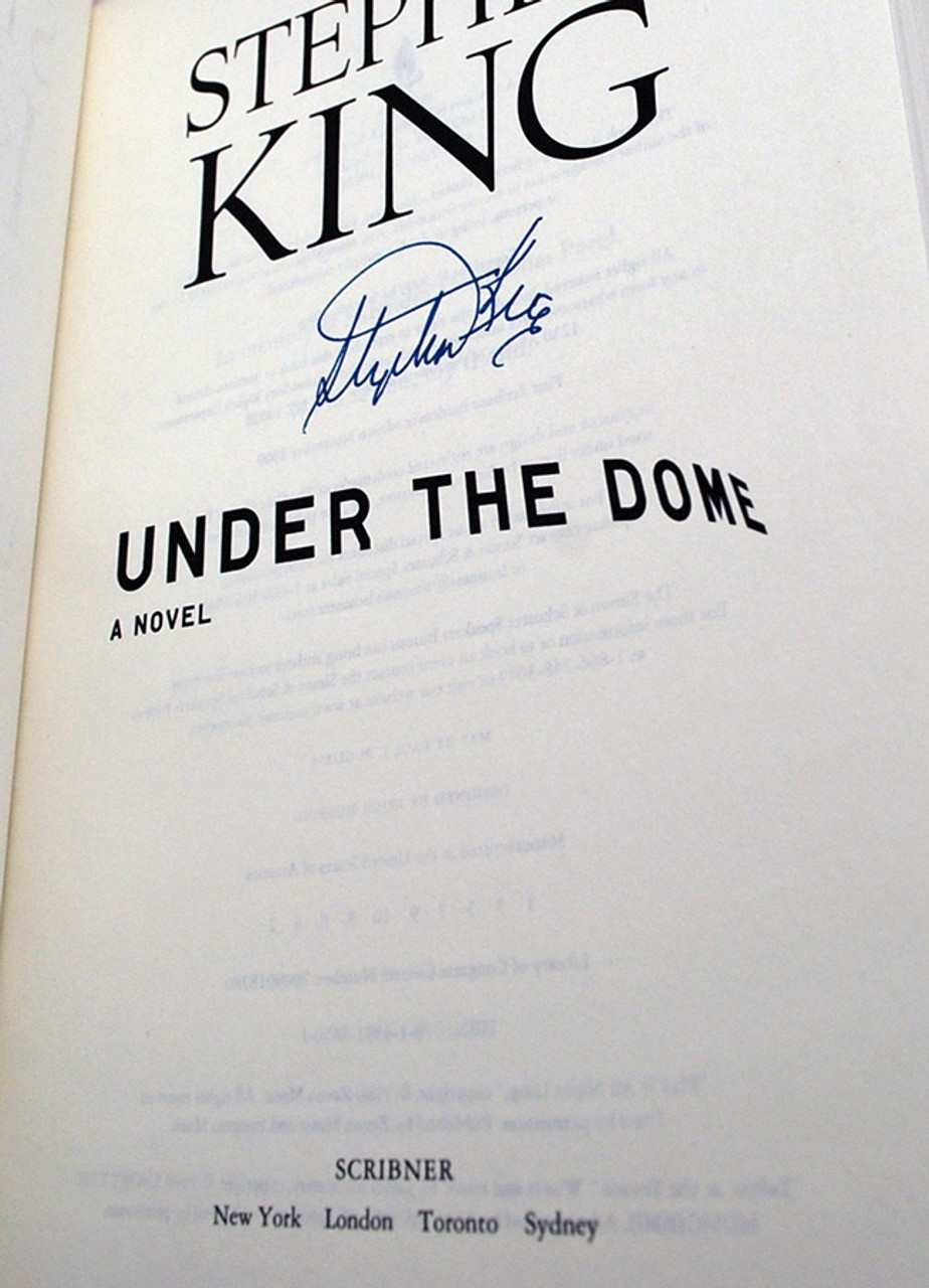 "Stephen King, ""Under the Dome"" Signed First Edition, dj/HC Fine/Fine"