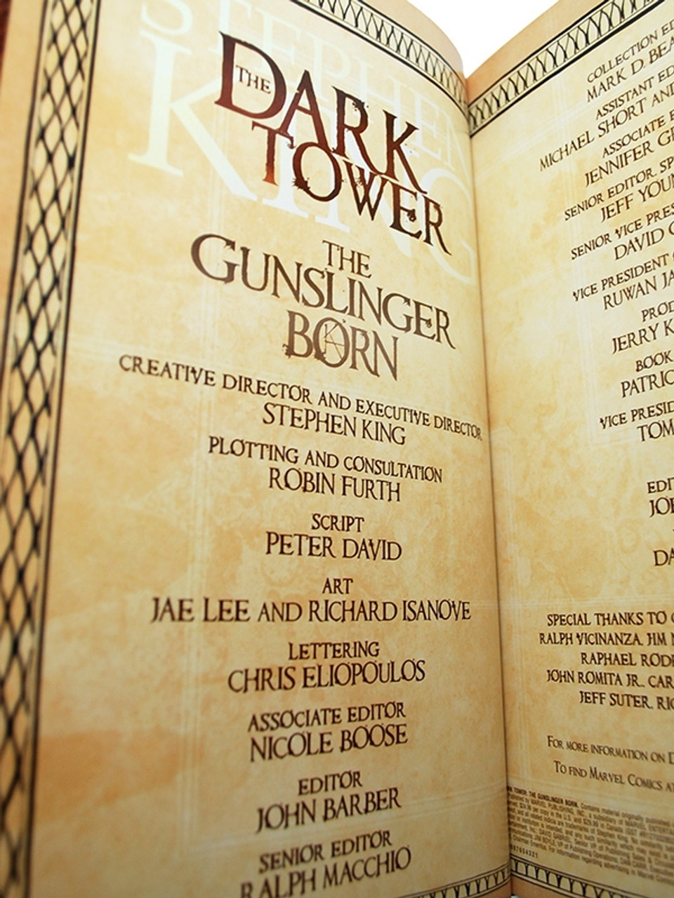 "Marvel 2007 - Stephen King ""The Dark Tower: Gunslinger Born"" Signed First Edition of only 100"