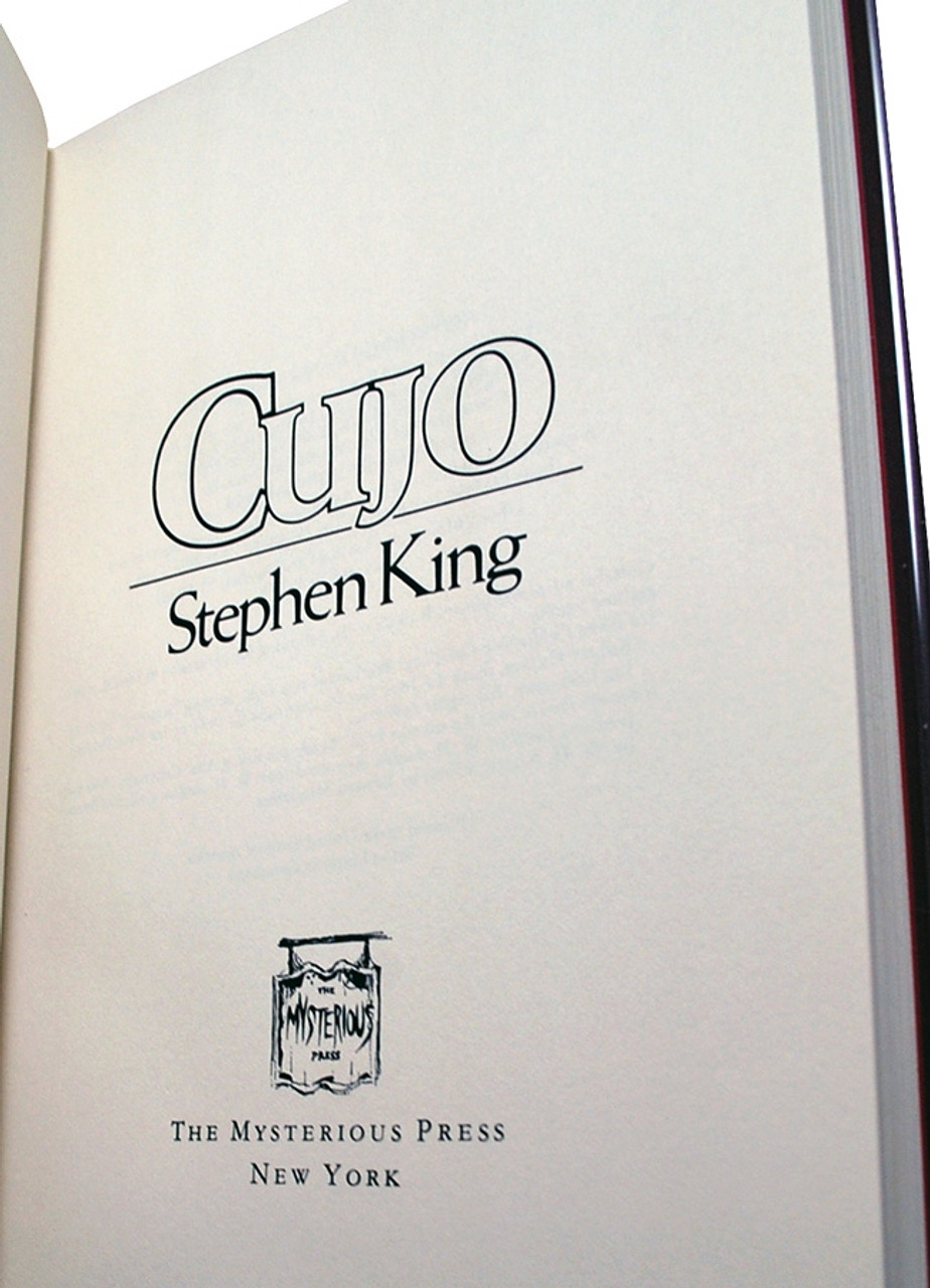 Stephen King CUJO Signed First Limited Edition