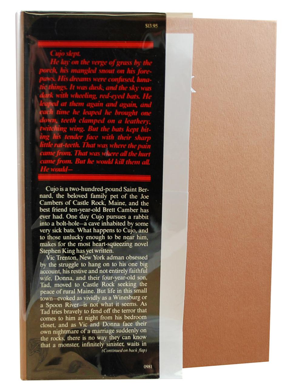 "Viking Press 1981, Stephen King ""Cujo"" dj/HC First Edition, First Printing Slipcased"