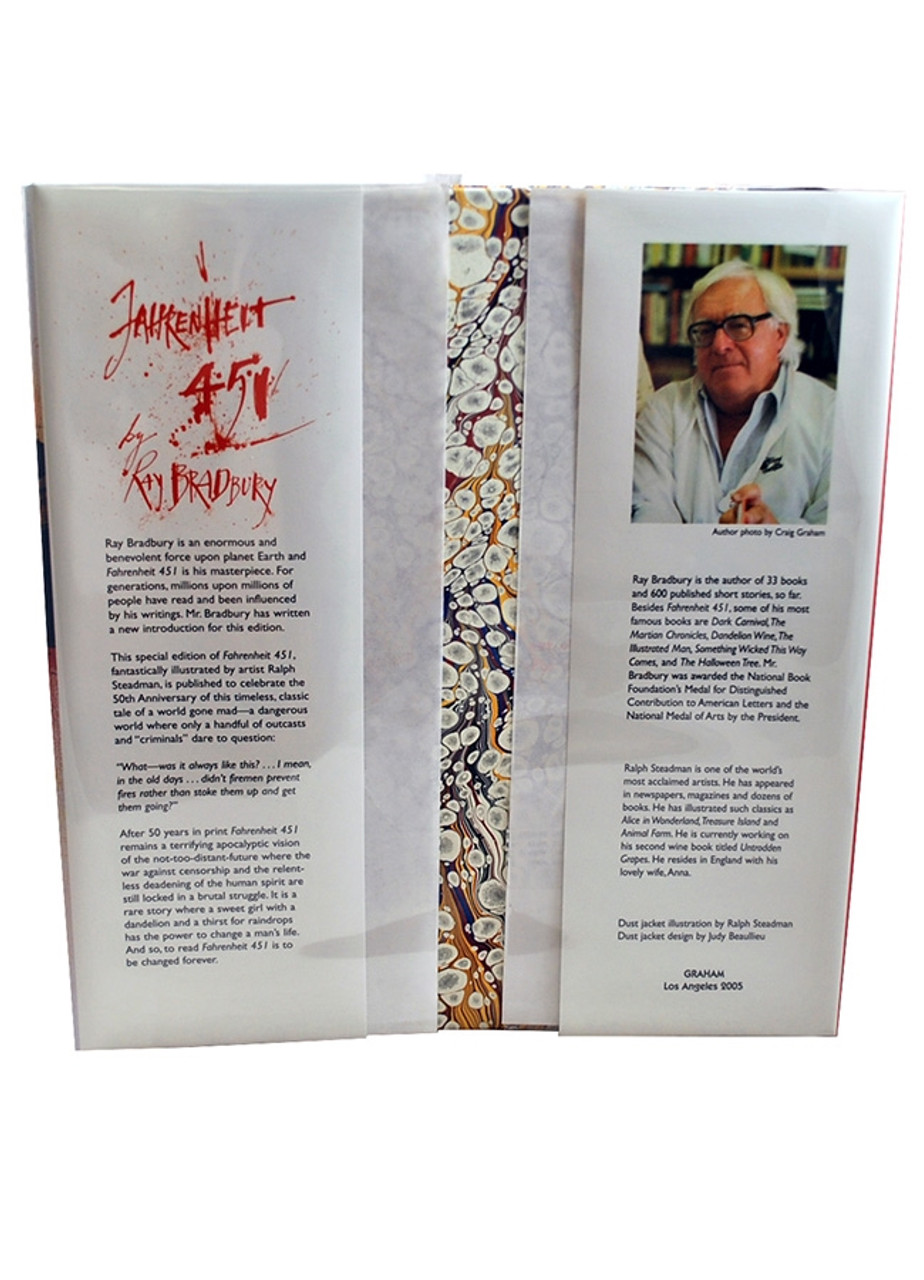 "Ray Bradbury ""Fahrenheit 451"" Signed Limited Edition, 62 of 150, in slipcase. The 50th Anniversary Edition  [Very Fine]"