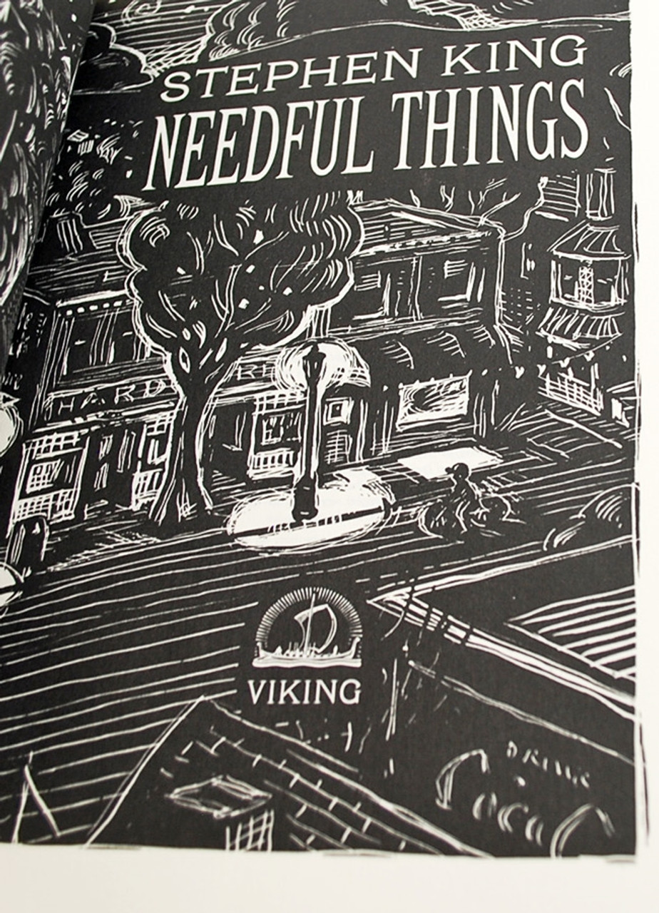 "Stephen King ""Needful Things"" Signed First Edition [Fine/Fine]"