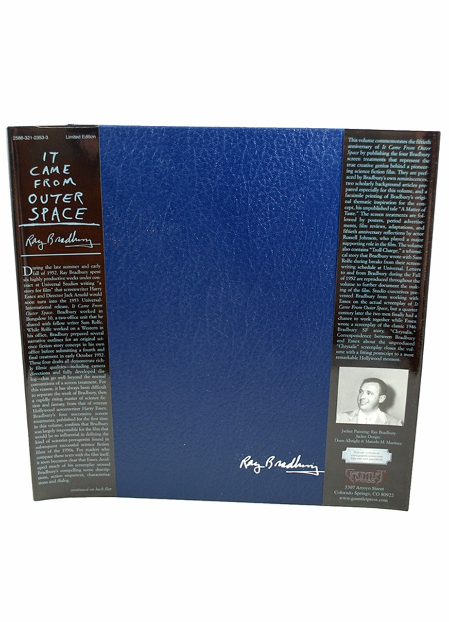 """Ray Bradbury """"It Came From Outer Space"""" Signed Limited Edition, 420 of 750, in slipcase [Very Fine]"""