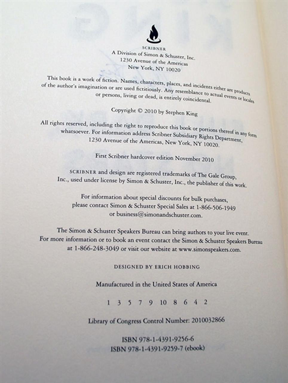 "Stephen King ""Full Dark, No Stars"" Signed First Edition, First Printing w/ Artist Remaque by Jill Bauman (Fine/Fine)"
