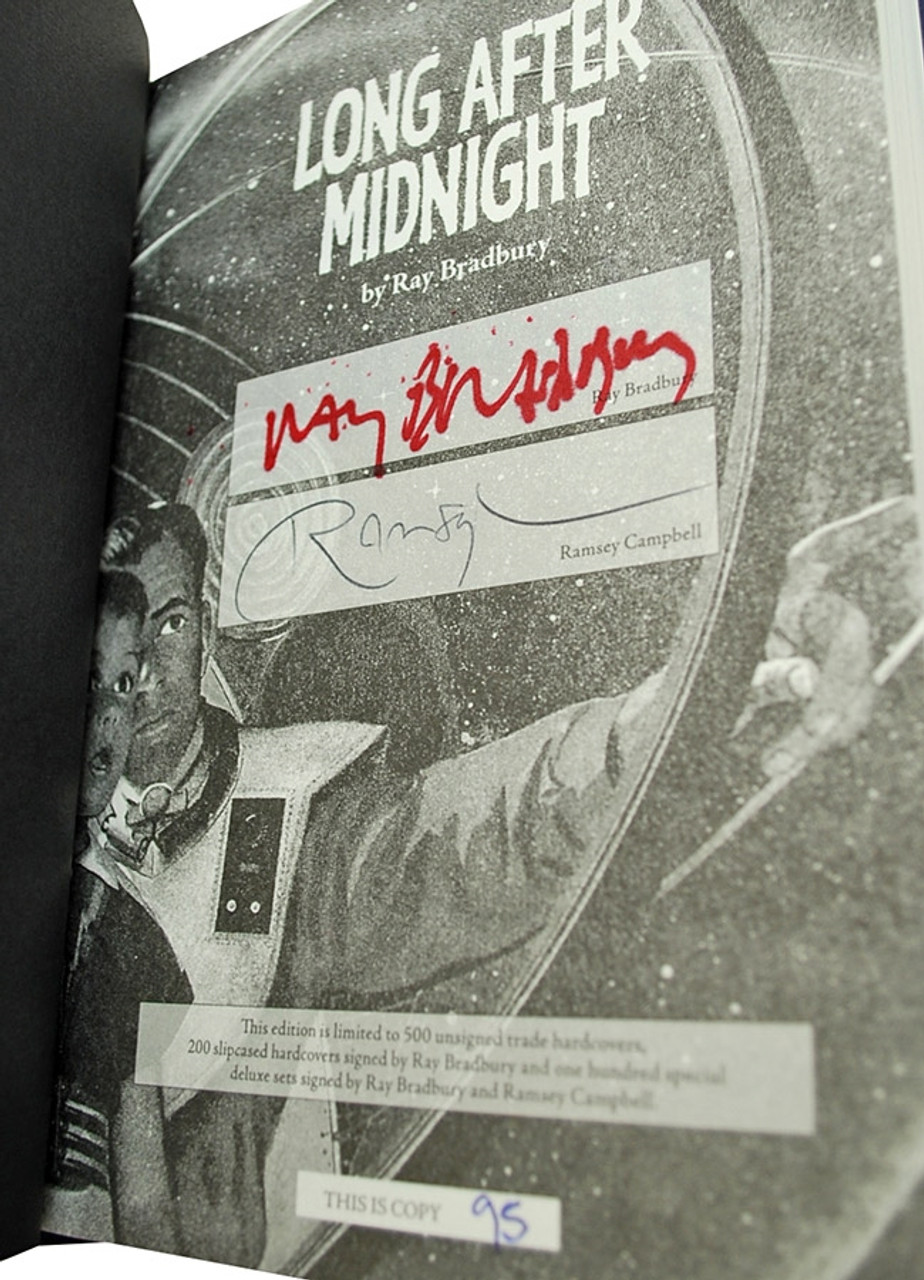 """Ray Bradbury """"Long After Midnight"""" Signed Limited Edition, 95 of 100, in tray-case [Very Fine]"""