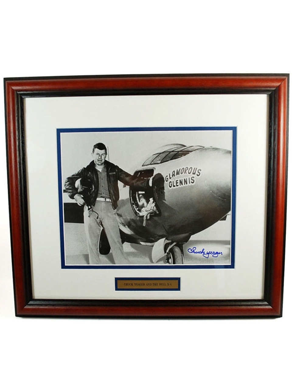 Chuck Yeager X-1 Signed Framed Print