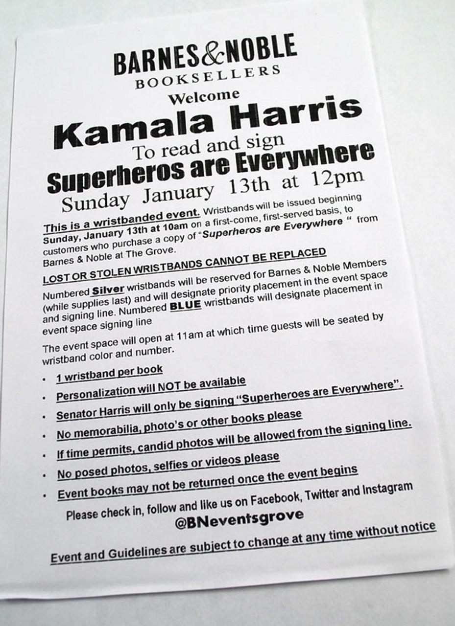 "Kamala Harris ""Superheroes Are Everywhere"" Signed First Edition"
