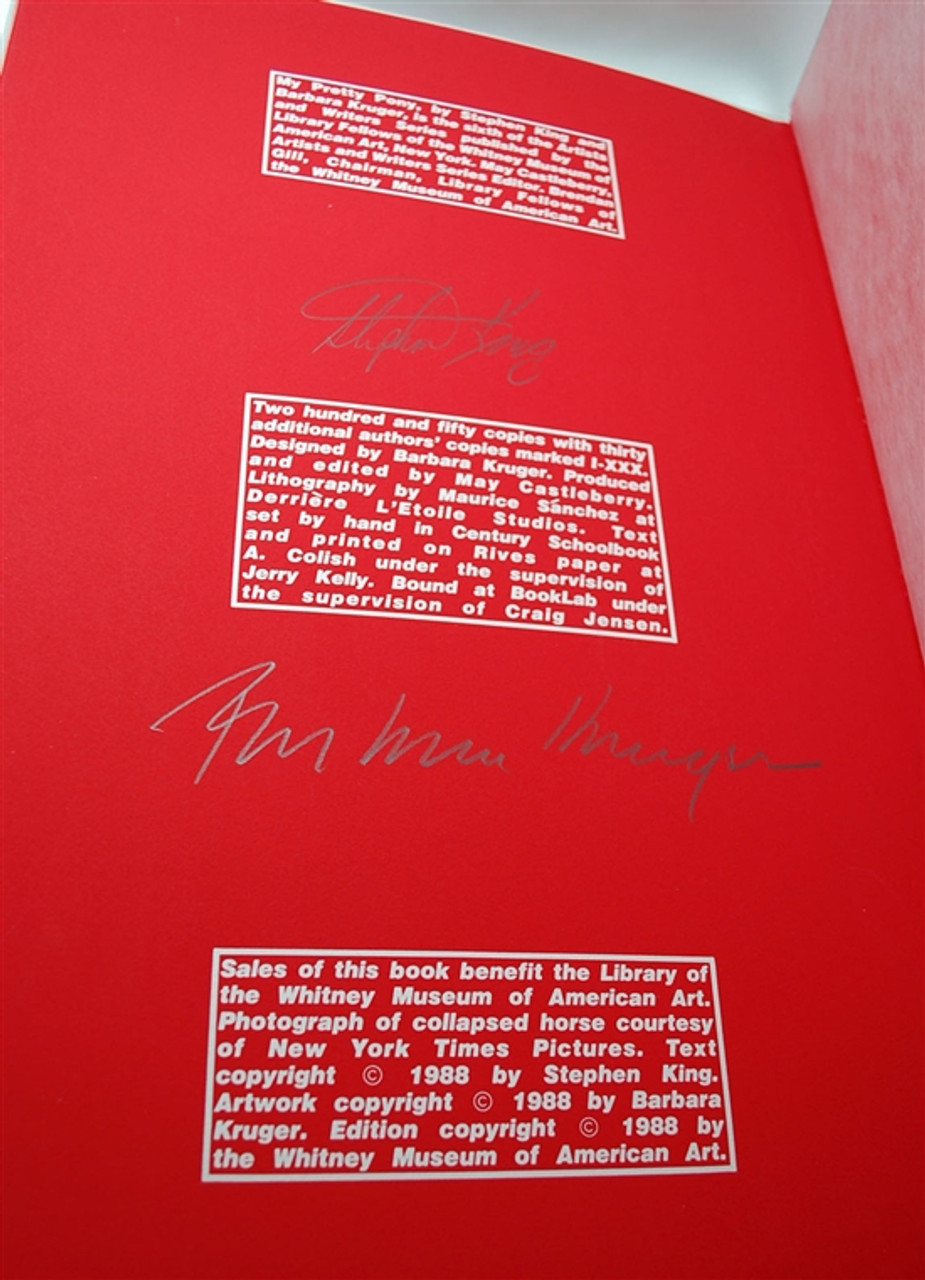 """Stephen King """"My Pretty Pony"""" Signed Limited Edition w/Stainless Steele Covers (As New) Leather Case"""