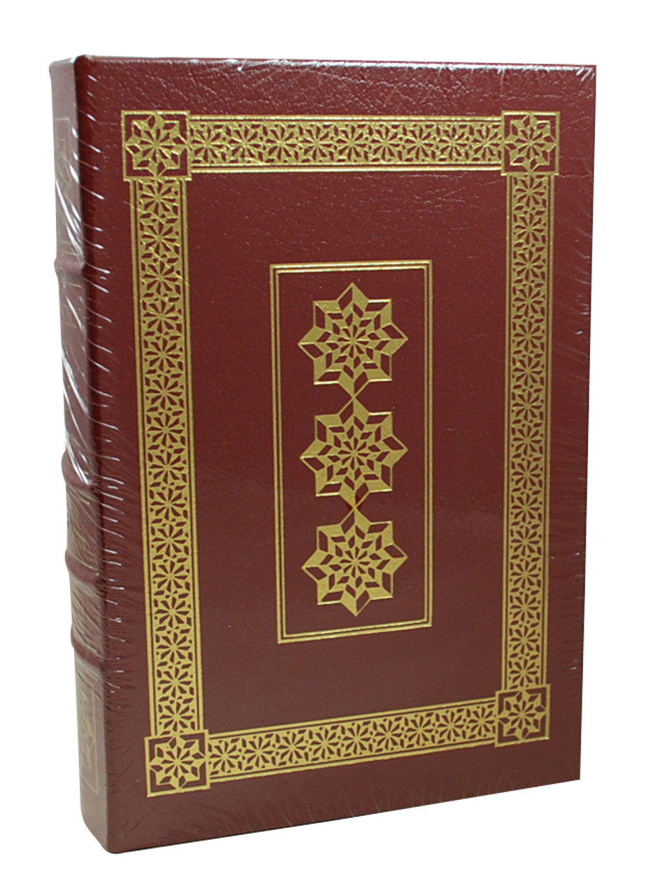 Front image of Einstein His Life and Universe. Maroon book with gold rim