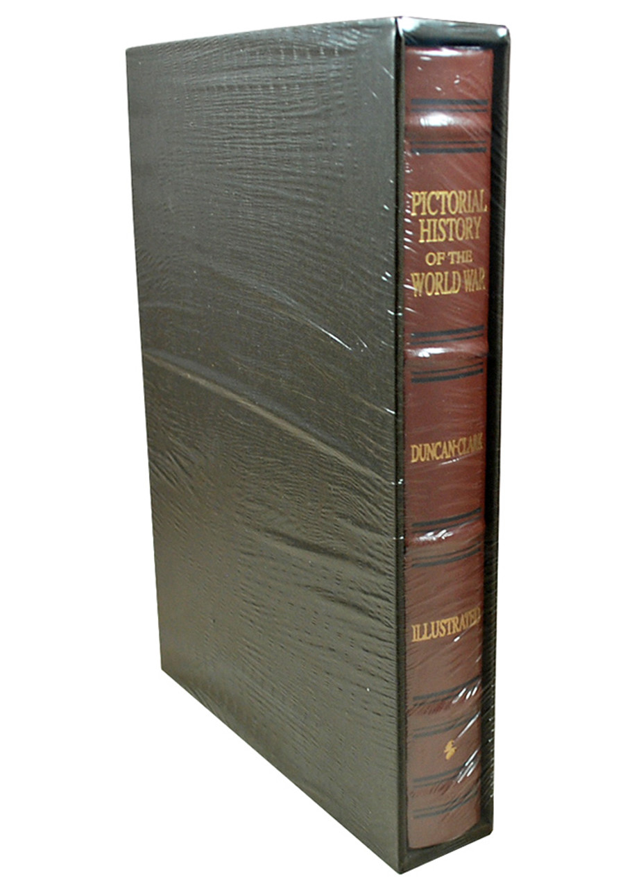 Back profile of black sleeve and the books brown leather binding with gold lettering