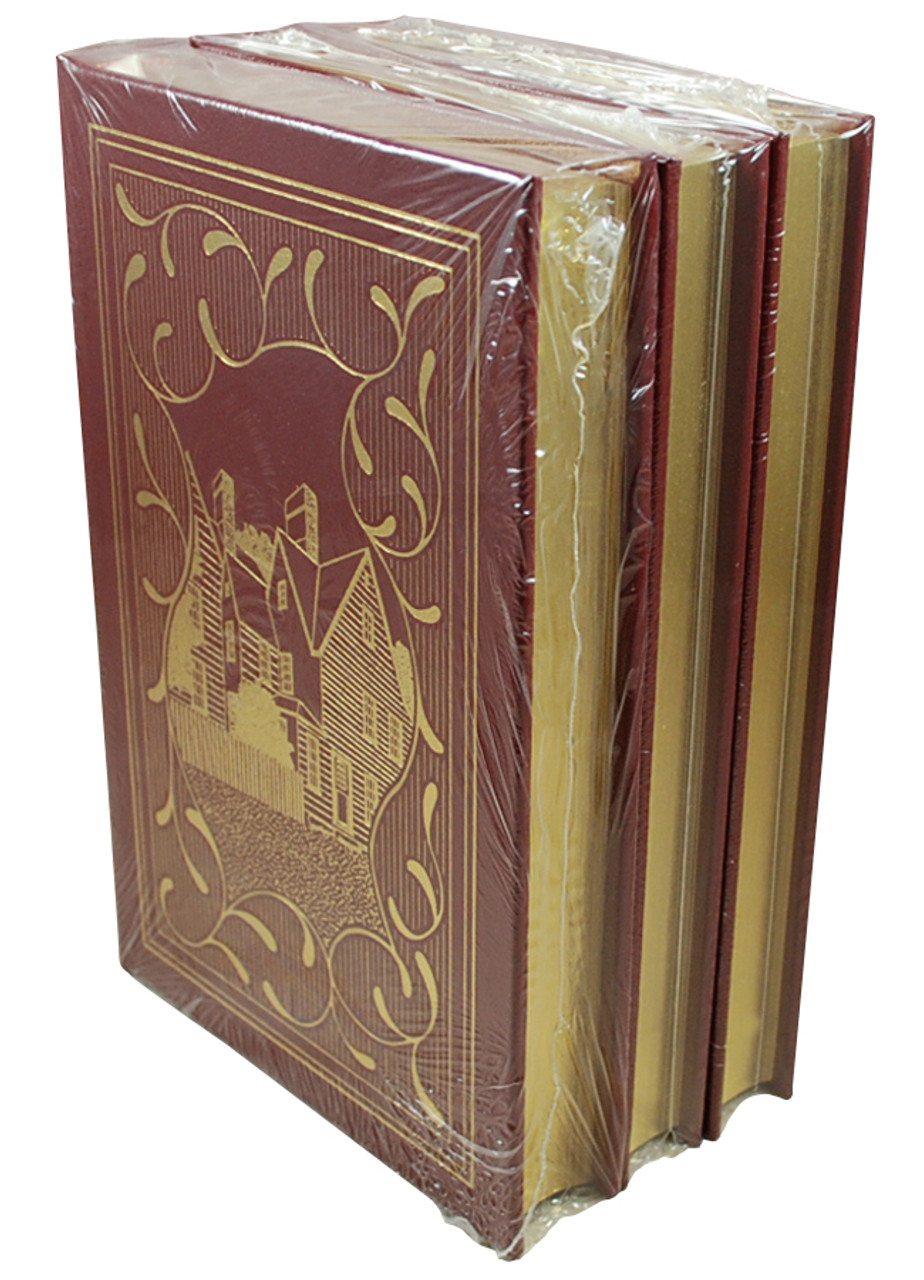 """Easton Press """"Nathaniel Hawthorne Masterpieces"""" Limited Edition, 3-Volume Complete Matching Set [Sealed]"""