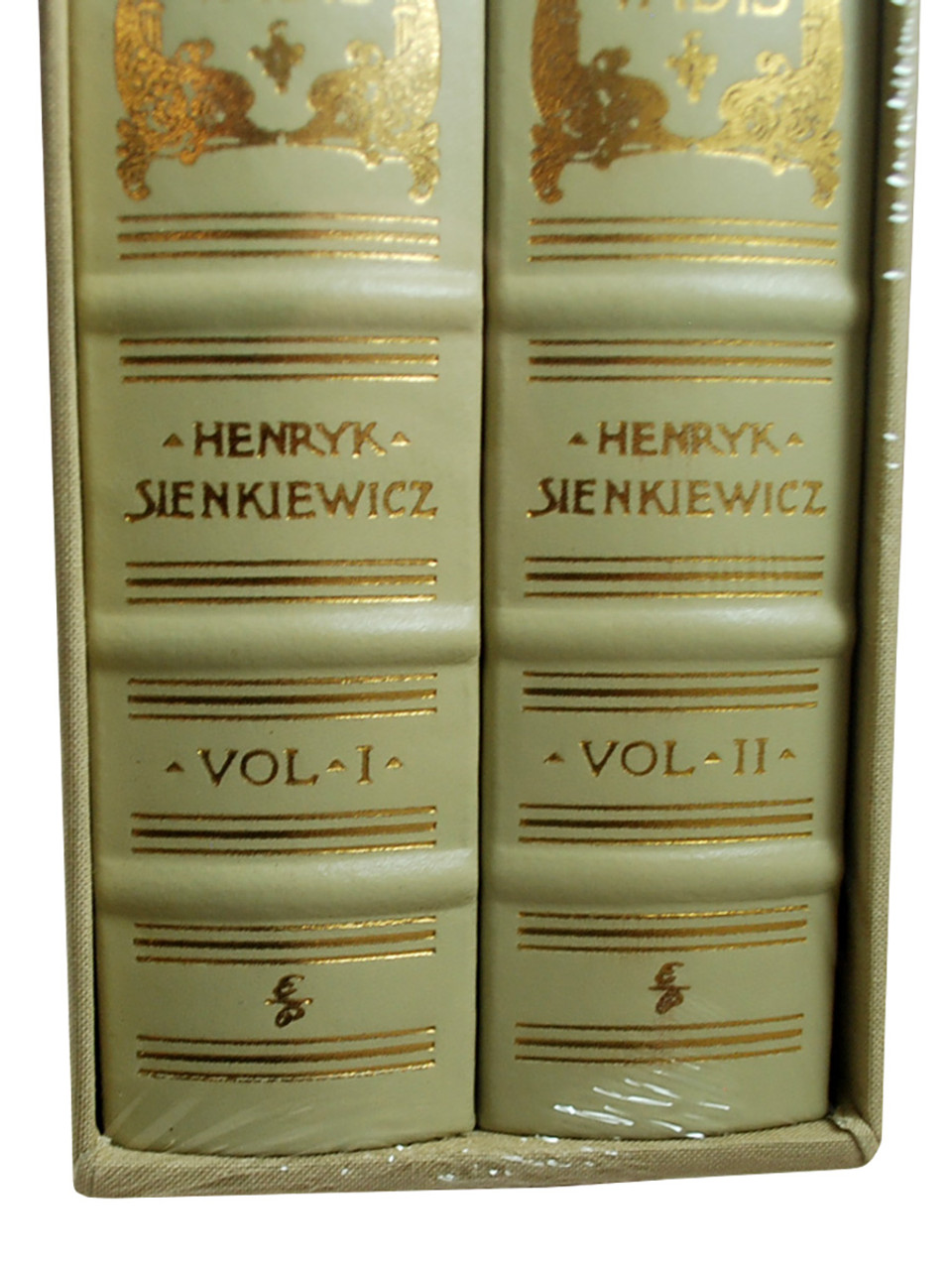 """Henryk Sienkiewicz """"Quo Vadis"""" Limited Edition, Leather Bound Collector's Edition 2-Vol Set of only 700, Slipcased [Sealed]"""