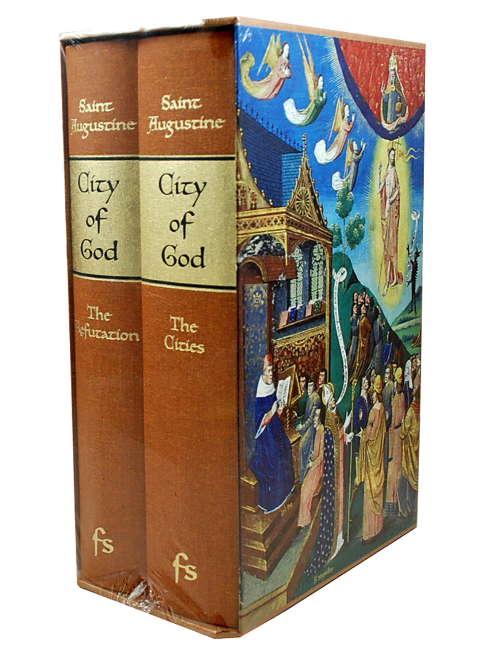 """Folio Society  """"The City of God """" Limited Edition, Collector's Edition 2-Vol. Slipcased Set [Sealed]"""