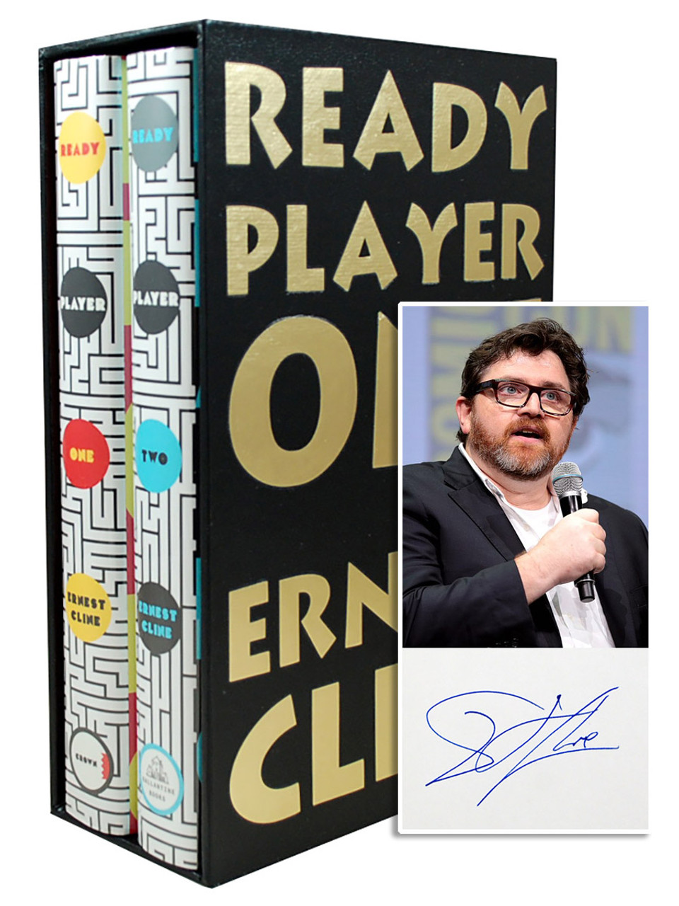 """Ernest Cline """"Ready Player One"""" + """"Ready Player Two"""" Signed First Edition, First Printing, Slipcased 2-Vol. Box Set w/COA [Very Fine]"""