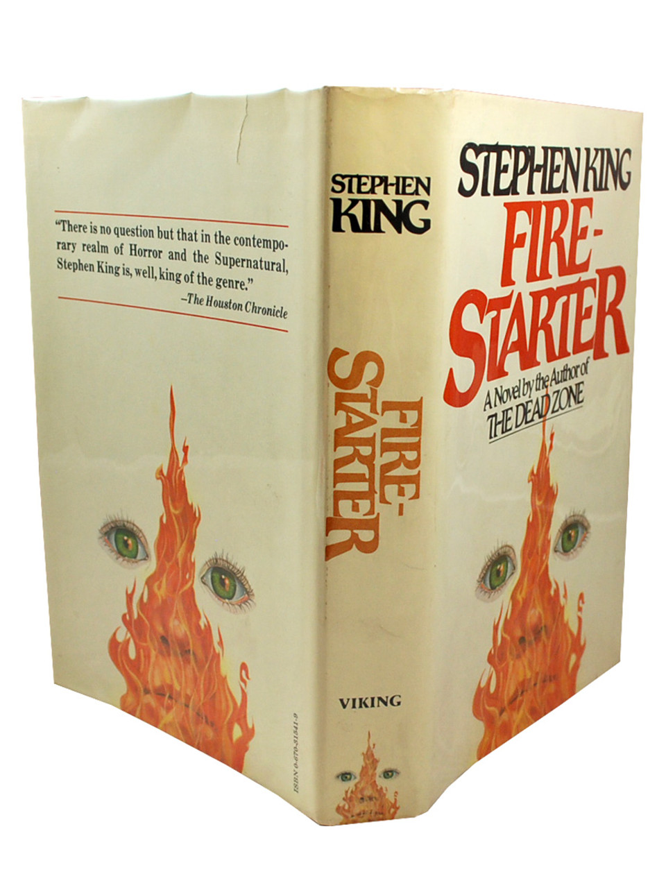 "Viking Press 1980 - Stephen King ""Firestarter"" dj/HC Slipcased First Edition, First Printing [NF/NF]"