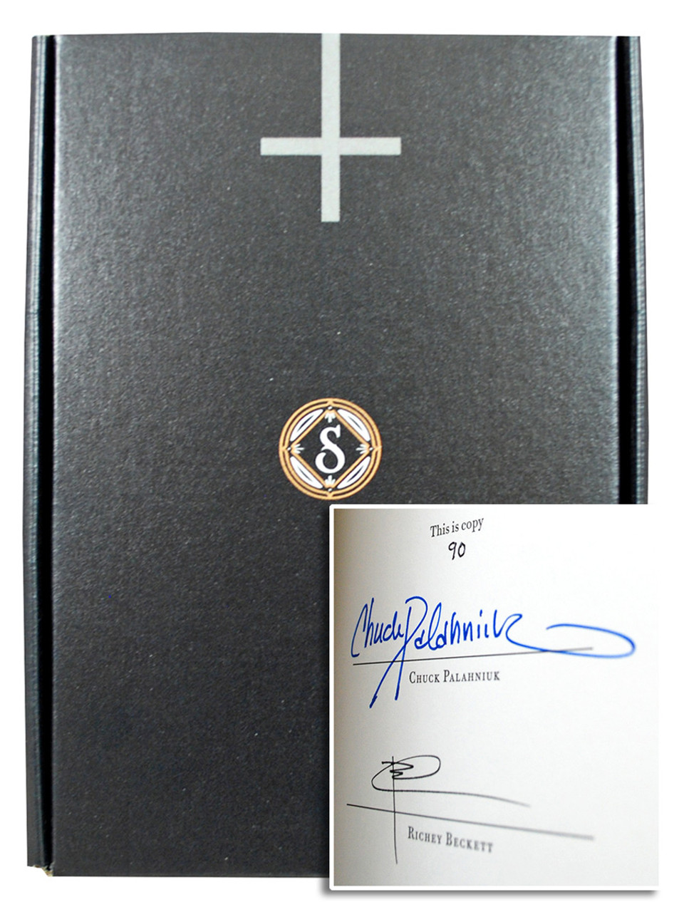 """Ira Levin """"Rosemary's Baby"""" Signed Limited Edition no 90 of 250, Slipcased Leather Bound Collector's Edition + Limited Edition Premiums [Very Fine]"""