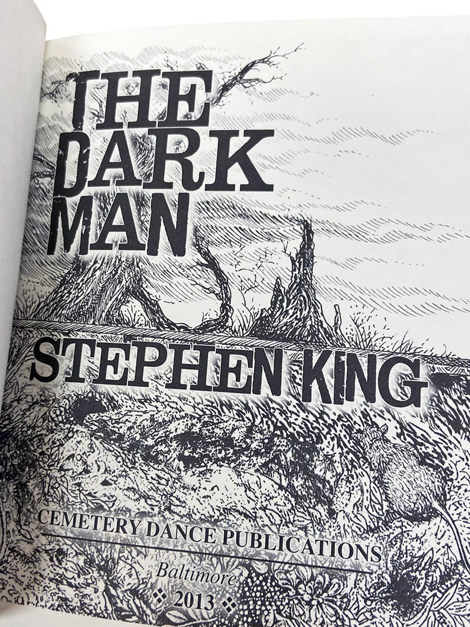 """Stephen King """"The Dark Man: An Illustrated Poem"""" Slipcased First Edition, First Printing, Signed & Remarqued by Glenn Chadbourne [Very Fine]"""