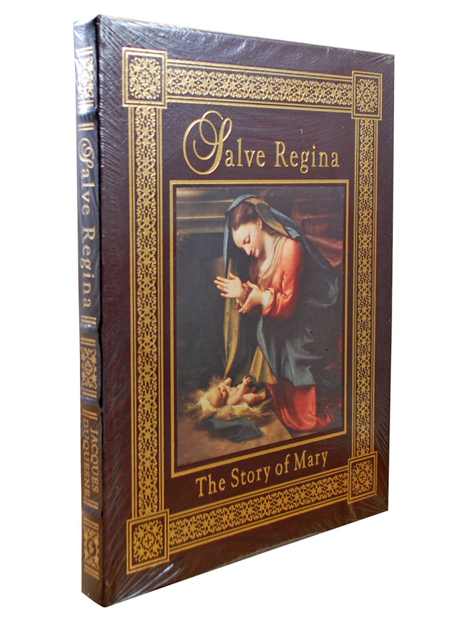 "Jacques Duquesne ""Salve Regina: The Story of Mary"" Deluxe Limited Edition,  Leather Bound Collector's Edition [Sealed]"