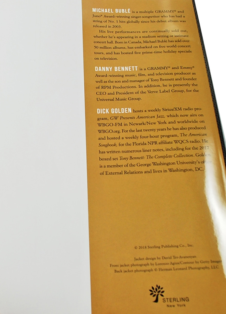 """Tony Bennett """"Tony Bennett Onstage And In the Studio"""" Signed First Edition, First Printing [Very Fine]"""