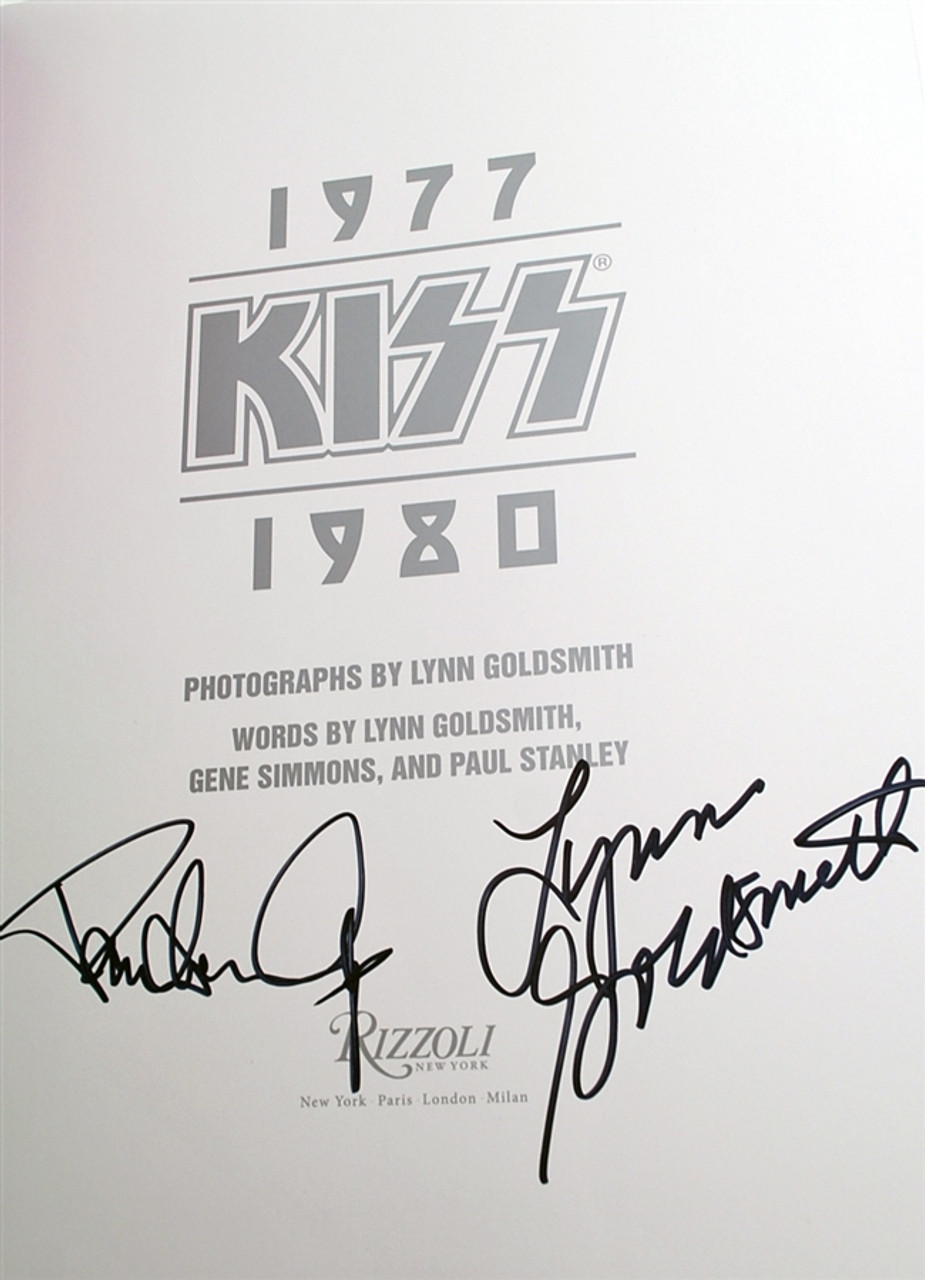 """Gene Simmons, Paul Stanley, Lynn Goldsmith """"KISS: 1970-1980"""" Signed First Edition [Very Fine]"""