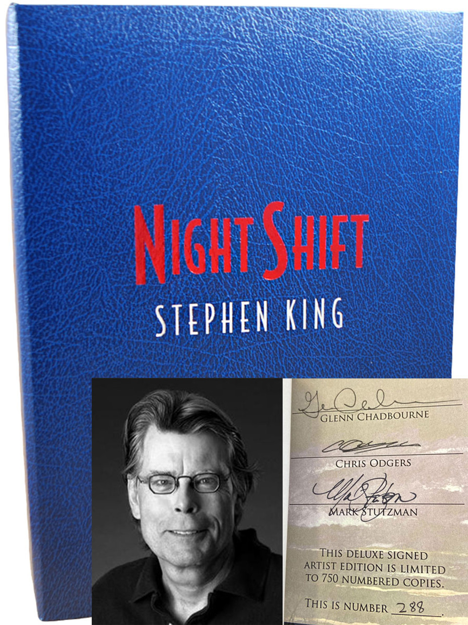 """Stephen King """"Night Shift"""" Deluxe Signed Limited Artist Edition No. 288 of 750, Tray-cased [Very Fine]"""