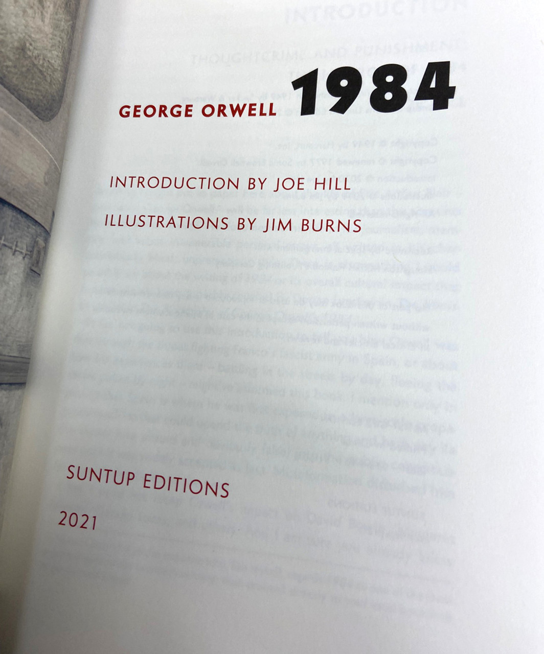 """George Orwell """"1984"""" Signed Artist Edition, Limited Edition of 1,000  Slipcased [Sealed]"""