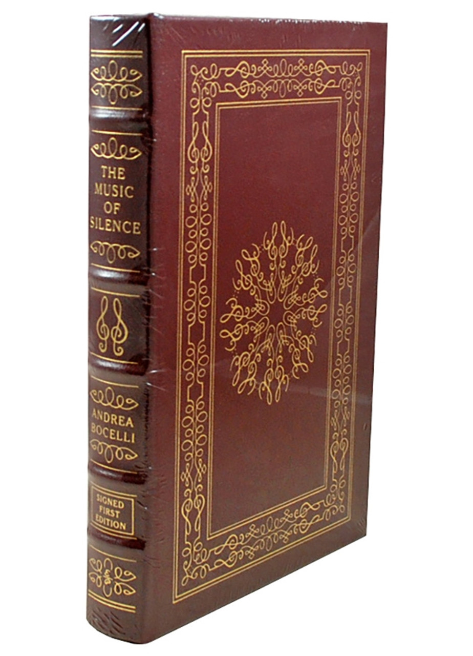 """Easton Press Andrea Bocelli  """"The Music of Silence"""" Signed First Edition, Leather Bound Collector's Edition of 1,200 w/COA [Sealed]"""