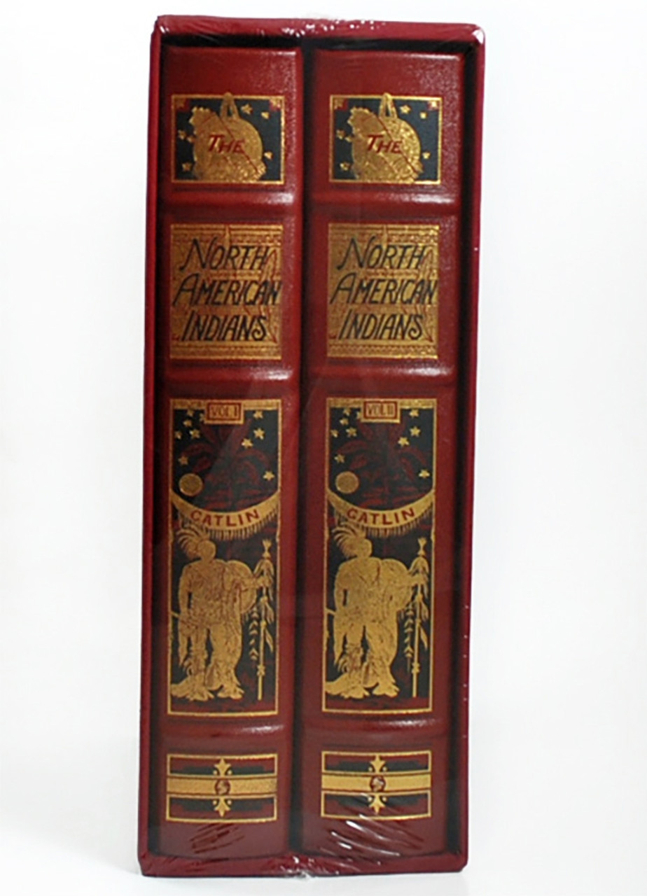 """Easton Press, George Catlin """"North American Indians"""" Deluxe Limited Edition, Leather Bound, Slipcased 2-Vol. Set [Sealed]"""