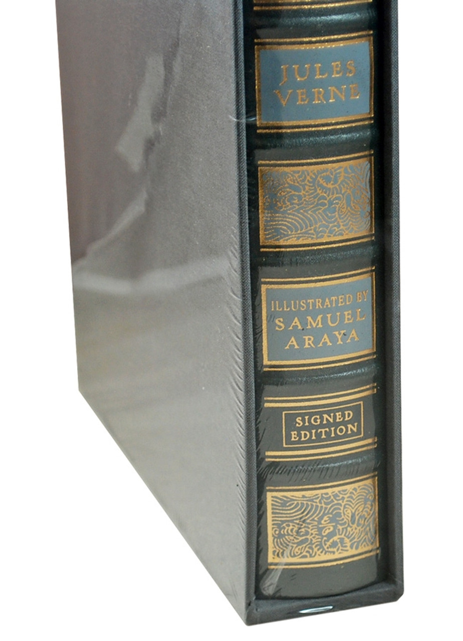 """Easton Press, Jules Verne """"A Journey To The Centre Of The Earth"""" Deluxe Signed Limited Artist Edition, Leather Bound, Slipcased"""