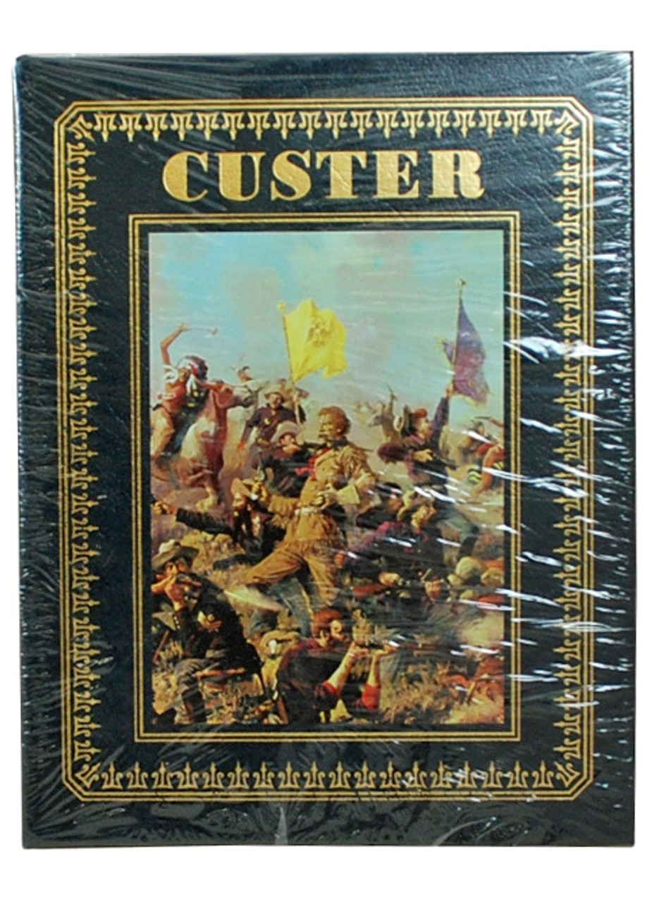 """Easton Press,  Larry McMurtry """"CUSTER"""" Deluxe Signed Limited Edition, Leather Bound Collector's Edition [Sealed]"""