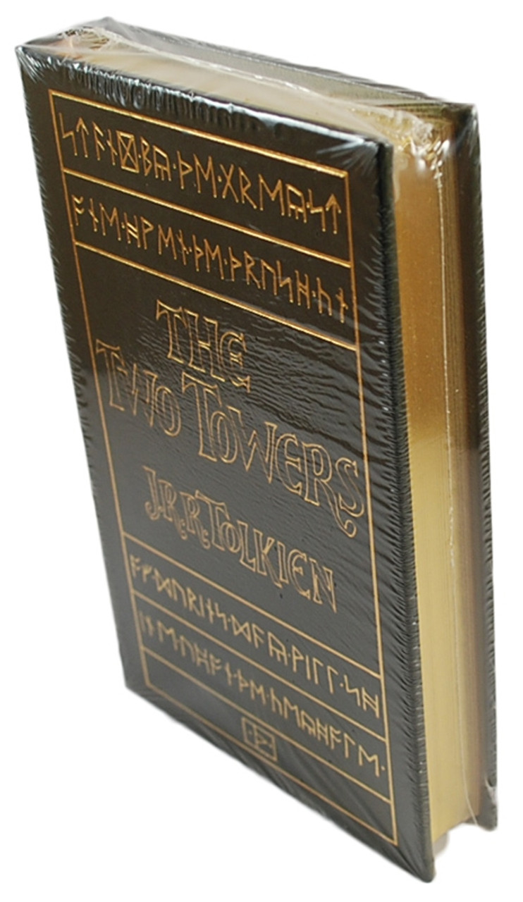 """J.R.R. Tolkien """"The Two Towers"""" Leather Bound Collector's Edition Sealed"""