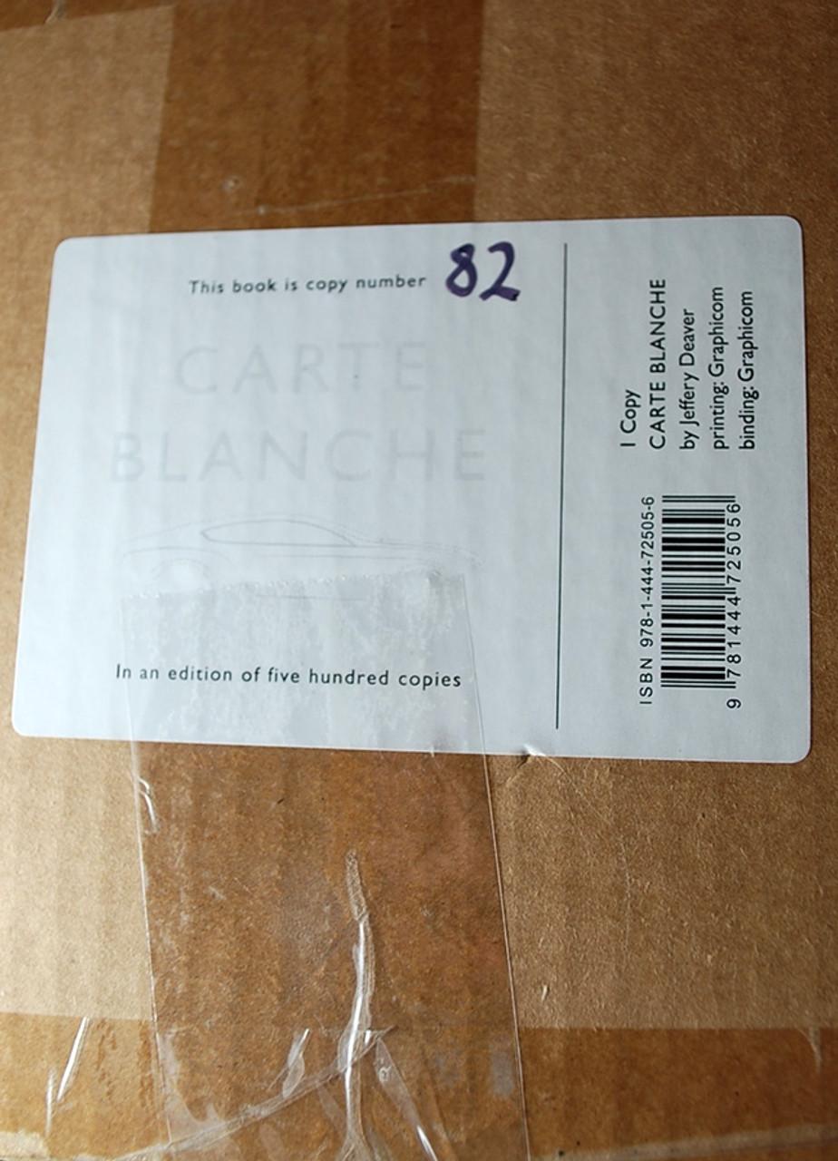 "Jeffery Deaver ""CARTE BLANCHE"" James Bond Edition, Bentley Motors Limited Edition of 500  [Very Fine]"