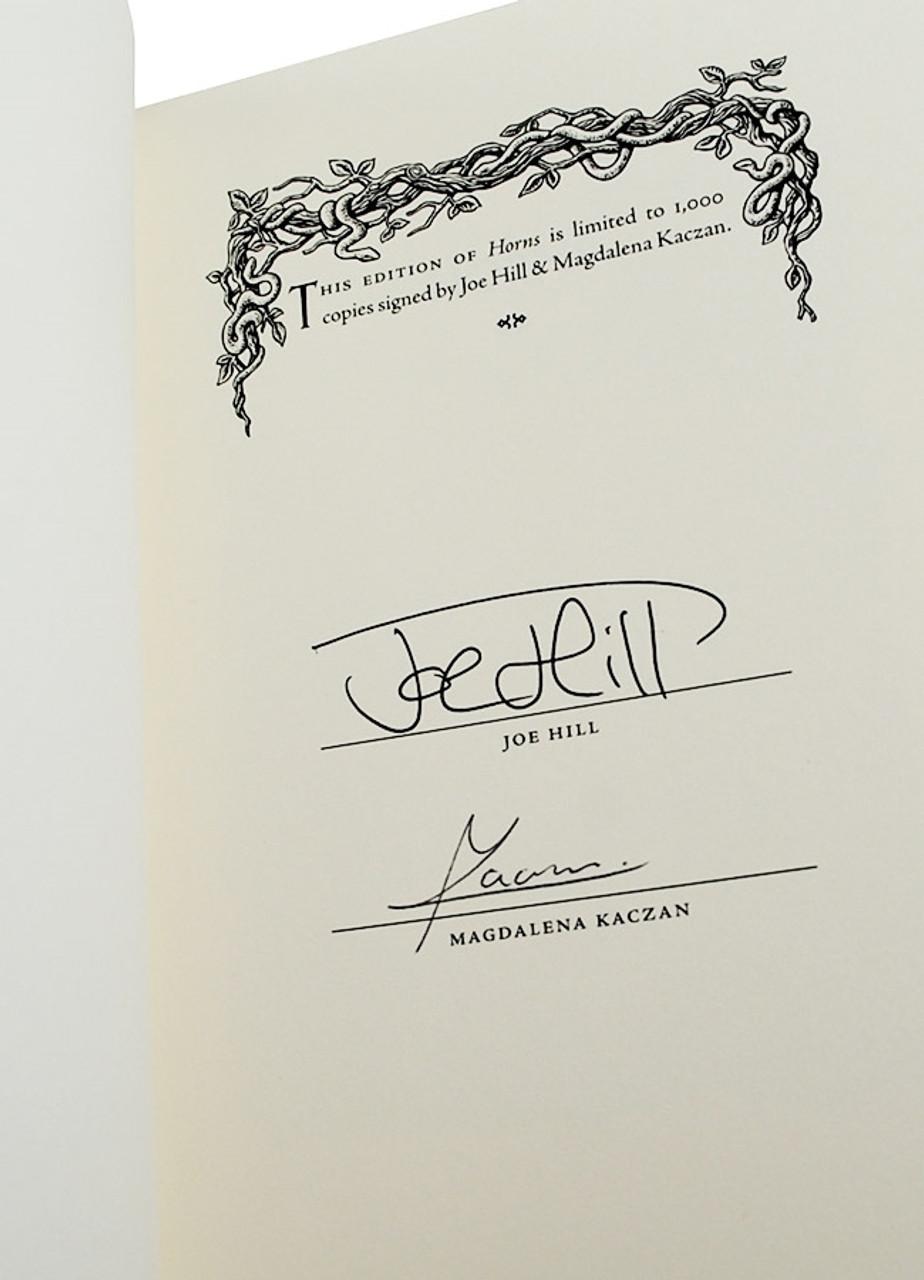 "Joe Hill ""Horns"" Signed Limited Artist Edition of 1,000 Slipcased [Sealed]"