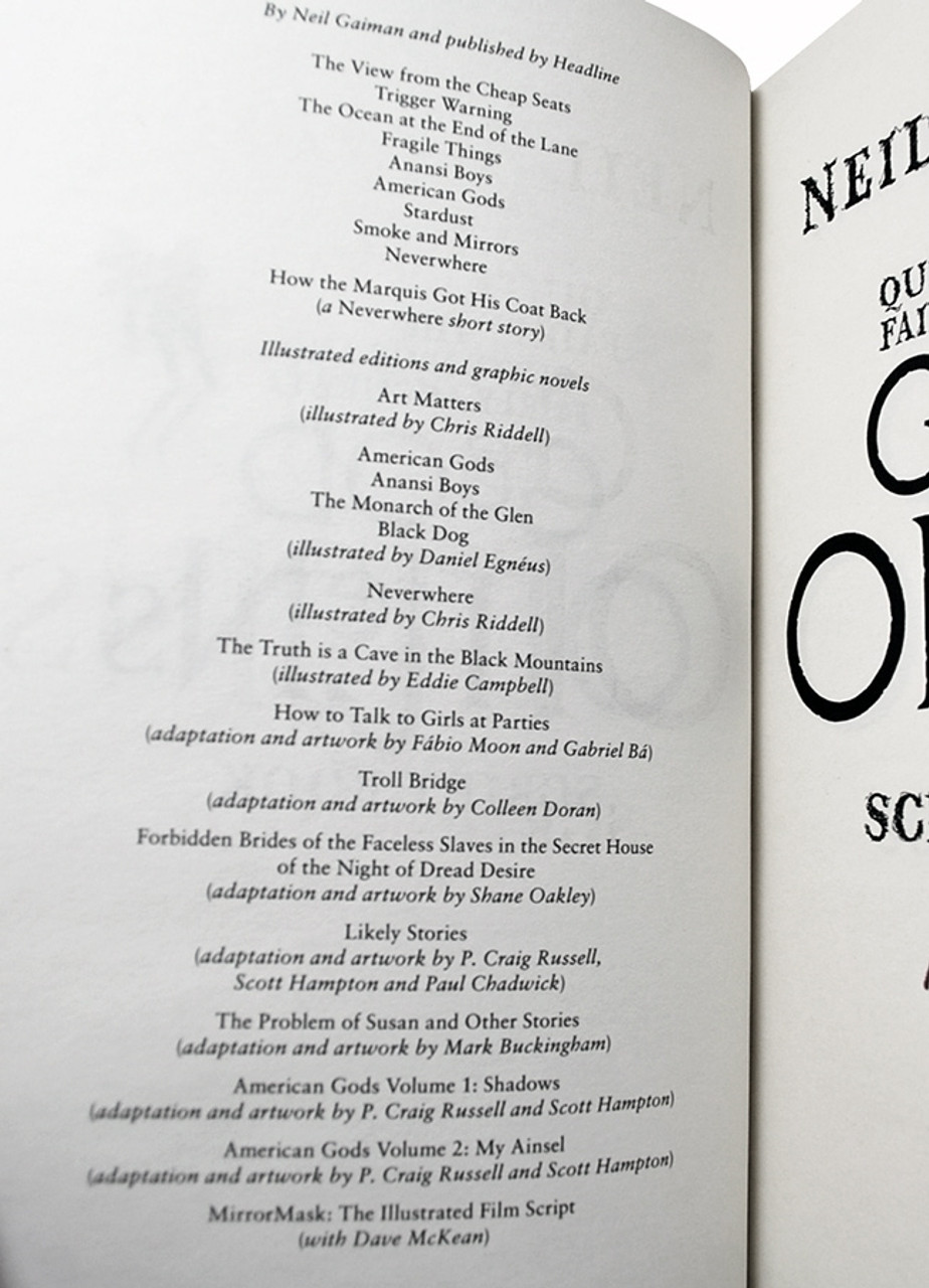 """Neil Gaiman """"Good Omens"""" Signed First Edition , Very Fine"""