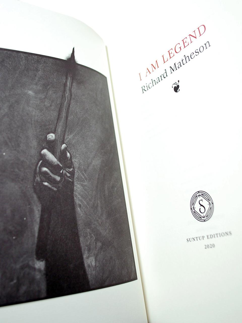 "Richard Matheson ""I Am Legend"" First Printing,  Signed Artist Gift Edition  [Sealed]"
