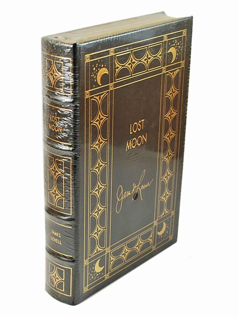 """Easton Press, James Lovell """"LOST MOON: The Perilous Voyage of Apollo 13"""" Signed Limited Edition w/COA [Sealed]"""