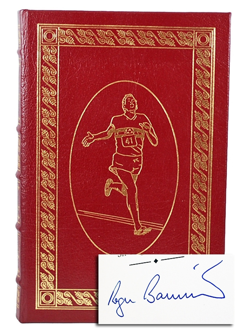 """Easton Press, Roger Bannister """"The Four Minute Mile"""" Signed Limited Edition, Leather Bound Collector's Edition w/COA"""