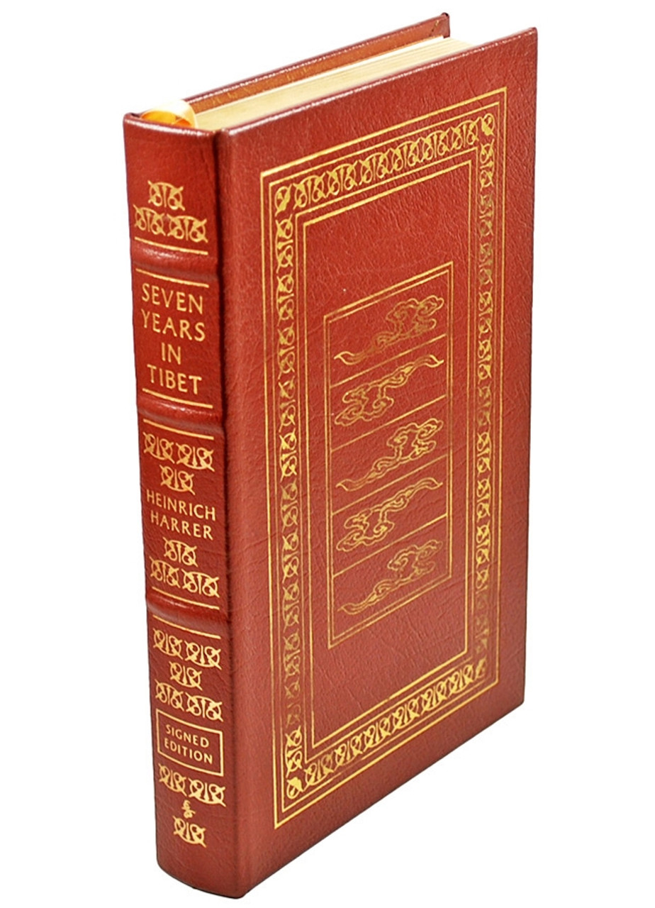 """Easton Press """"Seven Years in Tibet"""" Heinrich Harrer, Signed Limited Edition"""