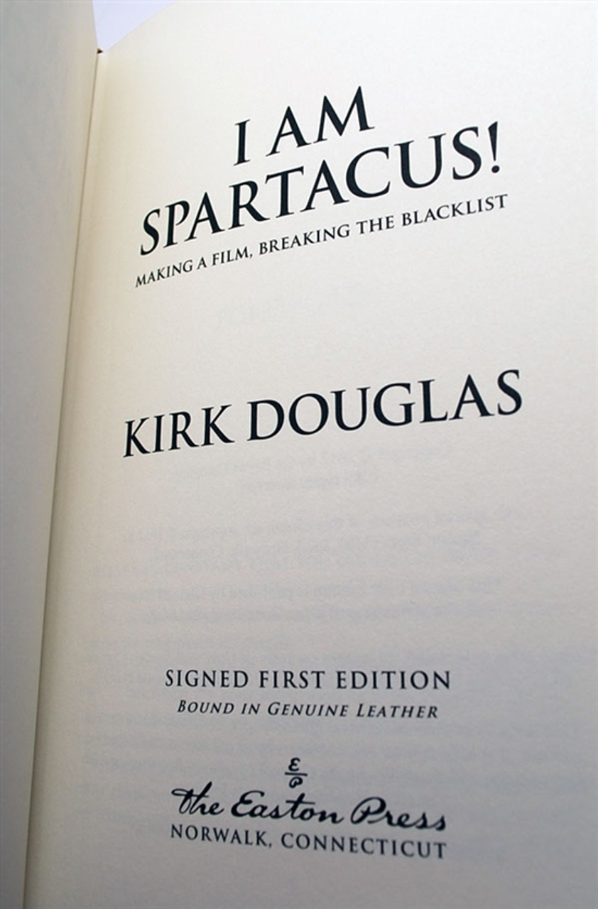 """Easton Press, Kirk Douglas """"I Am Spartacus"""" Signed First Edition of only 700 w/COA (Sealed)"""