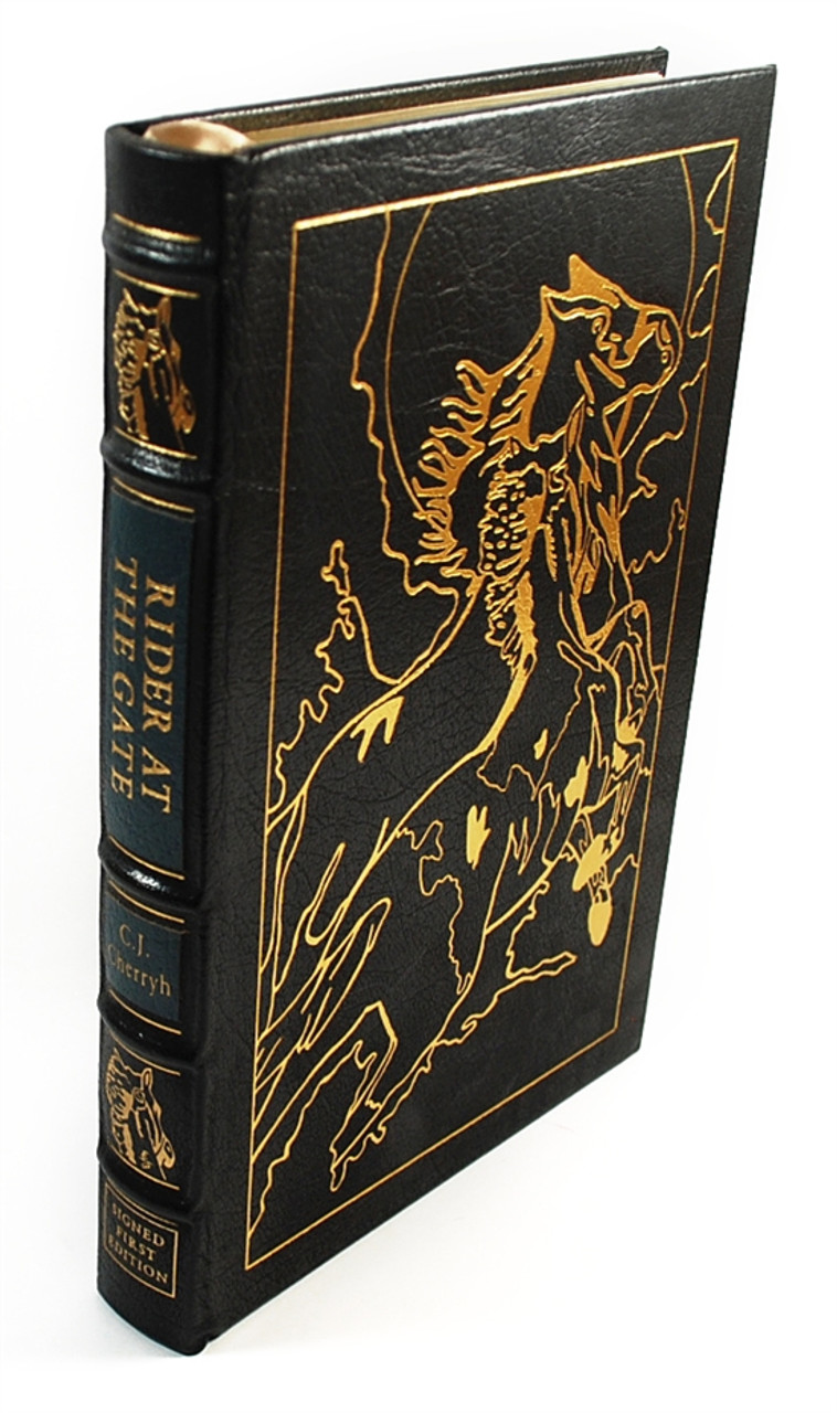 """Easton Press, C.J. Cherryh """"Rider at the Gate (Nighthorse, Book 1)"""" Signed First Edition w/COA (Very Fine)"""