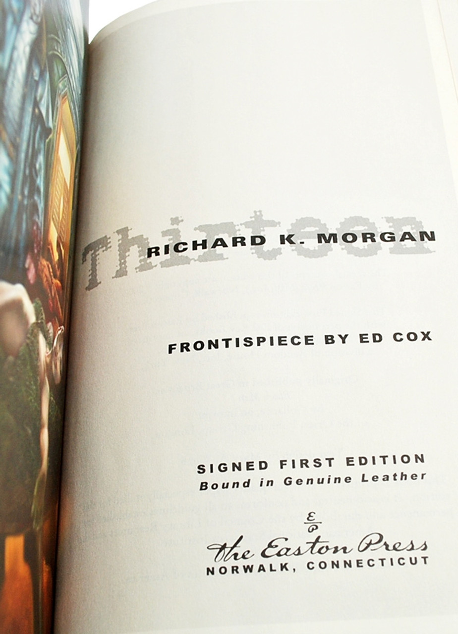 """Richard K. Morgan """"Thirteen"""" Signed Limited First Edition #356 of only 900"""