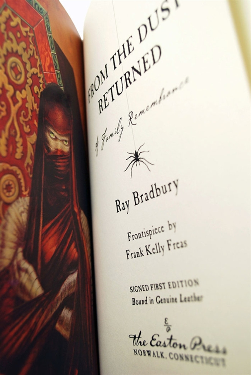 """Ray Bradbury """"From the Dust Returned"""" Signed First Edition Easton Press Leather Bound w/COA"""