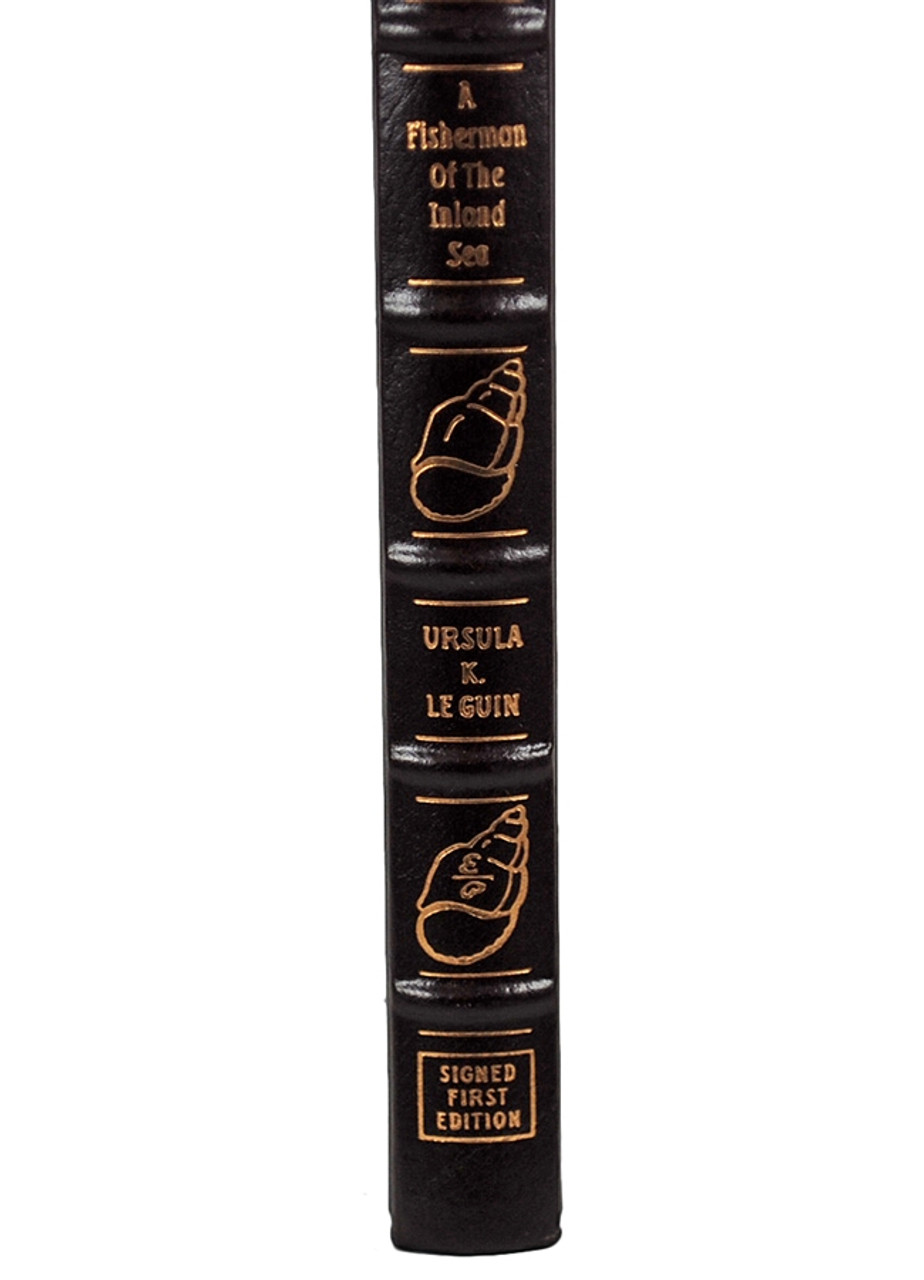 """Easton Press, Ursula K. Le Guin """"A Fisherman of the Inland Sea"""" Signed First Edition, Leather Bound Collector's Edition [Very Fine]"""